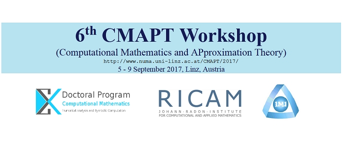 CMAPT 2017: 6th Workshop on Computational Mathematics and APproximation Theory